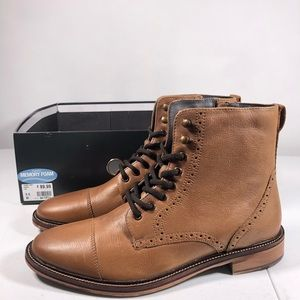 Franco Fortini Drexel Tan Boots with Memory Foam